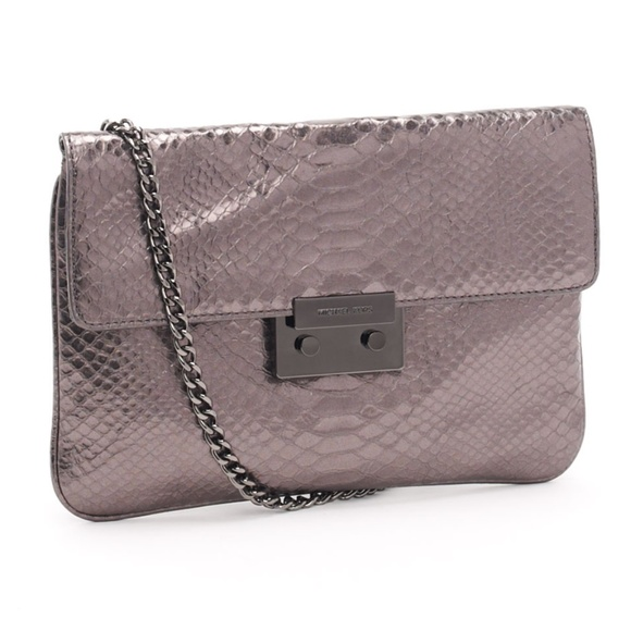 5f6c36e272ec Michael Kors Bags | Metallic Python Embossed Chain Purse | Poshmark
